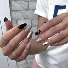 39 Trendy Fall Nails Art Designs Ideas To Look Autumnal and Charming - autumn nail art ideas , fall nail art, short nail Cute Acrylic Nails, Glitter Nails, Cute Nails, Pretty Nails, My Nails, Dark Nail Designs, Nail Art Designs, Nails Design, Short Nails Art