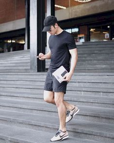 66 Cool Summer Shorts Shoes for Men Fashion and Lifestyle is part of Mens fashion summer outfits - 66 Cool Summer Shorts Shoes for Men Mens Fashion Summer Outfits, Latest Summer Fashion, Trendy Mens Fashion, Mens Fashion Wear, Casual Summer Outfits, Short Outfits, Men Wear, Sporty Fashion, Mens Fashion Shorts