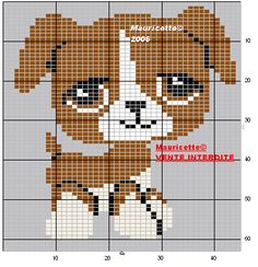 Puppy  perler bead pattern by Mauricette