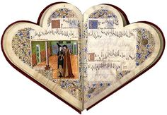 This beautiful, heart-shaped codex was compiled around 1470 for a nobleman named Jean de Montchenu. It contains forty-four polyphonic chansons (thirty in French and fourteen in Italian), written by such notable composers as Guillaume Dufay, Johannes Ockeghem, and Antoine Busnois. True to the chansonnier's design (the codex opens into the shape of two hearts joined as one), the subject of these chansons is courtly love. The pages are detailed with illuminated miniatures, gold-flecked initials