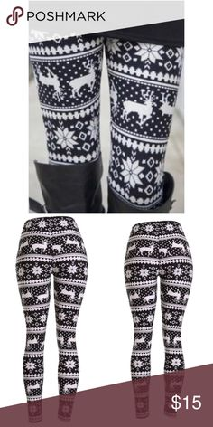 8f421a130c Spotted while shopping on Poshmark  Reindeer and Snowflake printed holiday  leggings!  poshmark