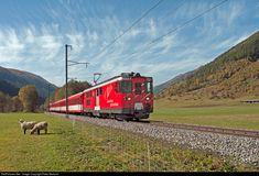 52 Matterhorn-Gotthard Bahn (MGB) Deh 4/4 at Oberwald, Switzerland by Peter Bertschi