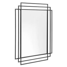 Remind yourself of how great you look with this super stylish square mirror from Nordal. With a classic Art Deco style, it features a glamorous geometric design and comes in a choice of a gold or blac Metal Art Decor, Full Length Mirror Wall, Dresser With Mirror, Mirrors Wayfair, Overmantle Mirror, Over The Door Mirror, Mirror Wall, Black Mirror, Mirror