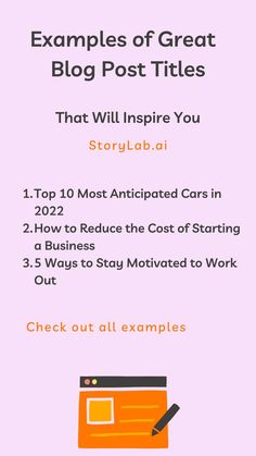 Wow! I don't know about you, but before starting StoryLab.ai my blog post titles often come last. When starting a new post, I was often busy trying to figure out how to turn learnings into a great piece of content. Once the writing begins, it's hard to pause from that train of thought long enough to worry about where on earth a title might come from! #Blogging #Blog #BloggingTips #BloggingMarketing #Digitalmarketing #ContentCreation #ContentMarketing Social Media Digital Marketing, Online Marketing Tools, Marketing Technology, Content Marketing Strategy, Social Marketing, How To Stay Motivated, Pinterest Marketing, Blog Tips, Growth Hacking