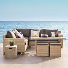 Outdoor Sectional, Sectional Sofa, Terrazas Chill Out, Outdoor Furniture Sets, Outdoor Decor, Toscana, Patio, Balcony, Home Decor