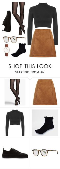 """17/02/18"" by xellalikesukulelesx on Polyvore featuring Express, WearAll, River Island, Ann Demeulemeester, Oliver Peoples and Daniel Wellington"