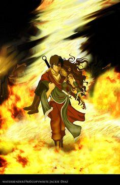 Zuko and Katara from Avatar the Last Airbender (Zutara) Avatar Legend Of Aang, Avatar Zuko, Team Avatar, Legend Of Korra, The Last Avatar, Avatar The Last Airbender Art, Diabolik, Zutara Fanfiction, Zuko And Katara