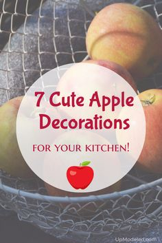 These apple decorations for kitchen make perfect gifts for those who love apple themed home decor. Their warm colors bring brightness and charm to any home! Apple Kitchen Decor, Apple Decorations, Warm Colors, Fruit, How To Make, Gifts, Food, Home Decor, Presents