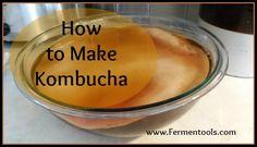#Kombucha is easy to make at home! #fermenting #recipe