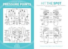 """Know your pressure points...they """"have been used for 5000 years to release endorphins and relieve pain and stress."""""""