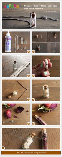 Summary: Have you ever thought of necklace ideas to make your own jewelry? I searched for many necklace making ideas and got enamored with this bottle necklace. I am attracted by the thought that I could write down my wishes into the bottle. Besides,  Ros #DIY