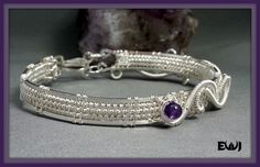 Amethyst Sterling Silver Wire Wrapped by EarthWrappedJewelry