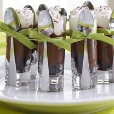 Chocolate mousse dessert shooters