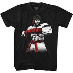 Street Fighter Men's Ryu Slim Fit T-shirt Black
