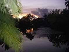 La Pita Resort Huahine, French Polynesia Sunset view from the Lagoon Bungalows