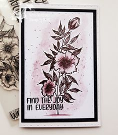 Stamps, Joy, Watercolor, Flowers, Cards, Seals, Pen And Wash, Watercolor Painting, Watercolour