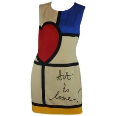 820f8d5842 Moschino Art is Love Mondrian Dress