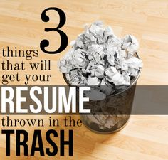 Searching for a job? Don't make these 3 common resume mistakes!