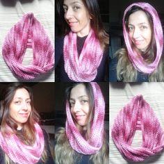 Gola Torcida em croche com Barroco /Crochet infinity scarf