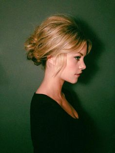 Get Inspired: '60s Brigitte Bardot inspired puffed ponytail and low chignon hairstyle. #hair