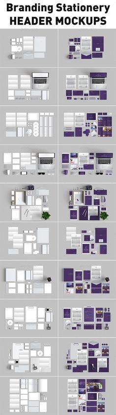 10 Branding Stationery Mockups (Stationery)