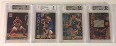 Jason Kidd & Stephon Marbury BGS Graded Rookie Lot of 4 Basketball Cards - Stadium Club Members Only