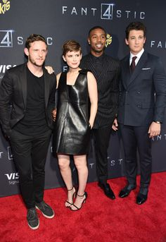 Jamie Bell, Kate Mara, Michael B. Jordan & Miles Teller from The Big Picture: Today's Hot Pics  Foursome were at the Brooklyn premiere of their flick.