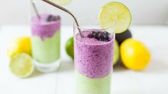 SAVORY WILD BLUEBERRY GREEN SMOOTHIE By Kara Lydon, RD, LDN, RYT of The Foodie Dietitian Wild Blueberries