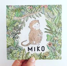 Made a birth announcement for little Miko, born in the year of the monkey #demarge #print #drukkerijdemarge #jungle #geboortekaartje #yearofthemonkey # #monkey #aapje #kleinaapje #geboortekaart #birth #announcement #birthannouncement #aankondiging #miko #botanical #floral #drawing #ink #pencil #design #anjamulder #groningen  www.anjamulder.com Year Of The Monkey, Pencil Design, Floral Drawing, Baby Arrival, Little Babies, Announcement, Birth, Drawings, How To Make