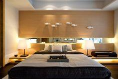 Modern Drama Interior in Luxurious Home Living: Modern Oriental Bedroom Blone Wood Cool Neutrals Steve Leung ~ apcconcept.com Luxury Home Designs Inspiration