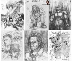 Just some recent sketches I've done in the previous year, showing everyone what I do on my spare time. Some of these are fan art pieces, going by row there is: Legend of Zelda's very own Link, WWE Roman Reigns, Hulk from Marvel Comics, Sam and Dean from Supernatural, Bigby from Wolf Among Us, and the last is just a chinese dragon.......