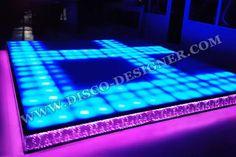 "Nightclub Lighting - ""Retro-Modern"" LED Dance Floor by Disco Designer - DMX lighting software demo"