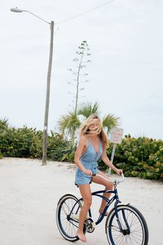 Barefoot girl riding a bike in Melbourne Beach, FL. Urban Outfitters - Blog - UO Interviews: Jasset Iva Umbel