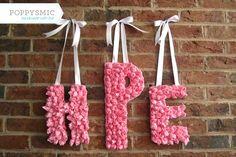 3 letter monogram wreath #poppysmic