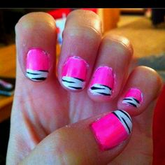 Love this idea, pink and zebra are a great combo!