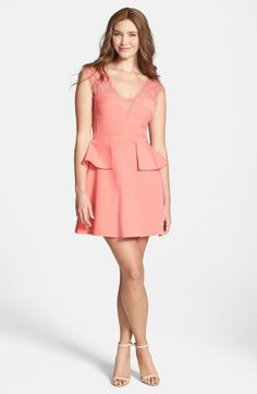 e354e71142b BCBGMAXAZRIA  Leeann  Peplum Fit   Flare Dress on shopstyle.com
