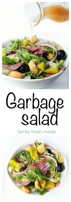 Garbage Salad Recipe - This salad is anything but boring. FULL of yummy ingredients!