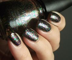 This is what my current nails look like! China Glaze: Glitter all the way