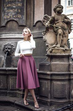 Waist Skirt, Midi Skirt, High Waisted Skirt, Vanitas Vanitatum, Elegant, Flannel, Skirts, Model, Color