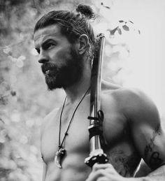 Beard Styles - Man Brötchen und Beard