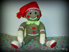 Sock Gingerbread Man PDF Pattern and Socks included by LaliDolls, $17.00
