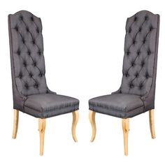 Add a touch of rich Belgian appeal with this traditional design, offering harmonious style for your home d�cor.Product: Set of 2 chair...
