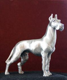 Rawcliffe Great Dane Miniature Pewter Figurine