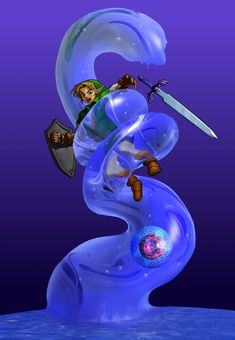 Legend of Zelda Ocarina of Time art > Water Temple Boss Battle > Link vs Morpha The Legend Of Zelda, Legend Of Zelda Breath, Oot Link, Link Zelda, Saga Zelda, 3d Art Gallery, Twilight Princess Hd, Water Temple, Nintendo