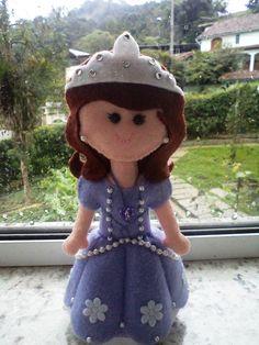 Princesinha Sofia Feltro  Felt Sofia the First