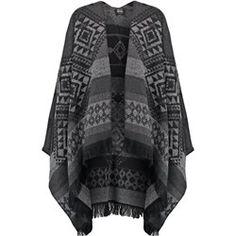 Vero Moda VMRILLA Ponczo black