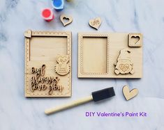 Valentine's DIY Photo Frame Paint Kit, Do It Yourself Valentine Paint Kit by CaffeineChaosDesigns on Etsy Valentine Day Photo Frame, Valentines Day Photos, Valentines Diy, Family Christmas Ornaments, Christmas Balls, Owl Always Love You, Rustic Gifts, Fun Diy Crafts, Painted Pots