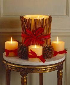 Stunning Indoor Christmas Candle Inspirations For Christmas Table – Easyday Christmas Candle Centerpieces, Christmas Candles, Noel Christmas, Diy Candles, Homemade Christmas, Xmas Decorations, Christmas Crafts, Christmas Wedding, 242