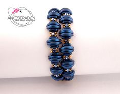 English pattern for the Crescent Bling bracelet