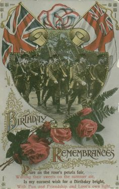 "'Patriotic Postcard ""Birthday Remembrances"" 'Postcards - Jane - Picasa Web Albums"